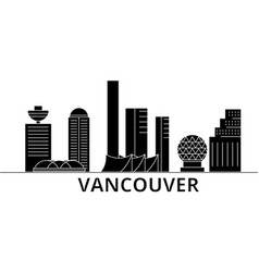 vancouver architecture city skyline travel vector image vector image