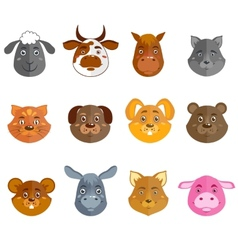 Wild and domestic animals collection vector image vector image