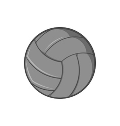 Volleyball icon black monochrome style vector