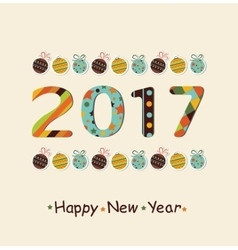 New year 2017 background vector