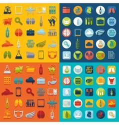 Set of veterinary flat icons vector