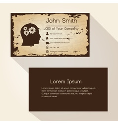 Ragged edges old paper brown business card design vector