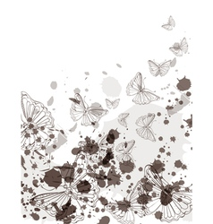 card with butterfly vector image