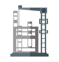 Cartoon building construction structure steel vector