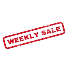 Weekly sale rubber stamp vector