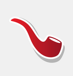 smoke pipe sign  new year reddish icon vector image