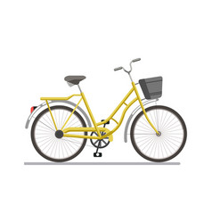 Bicycle pedal vehicle with travel basket vector