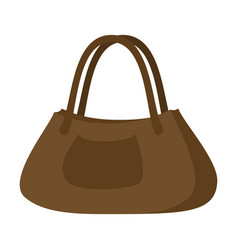 icon in flat design fashion clothes ladies handbag vector image