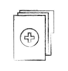 Sketch draw medical history folder vector