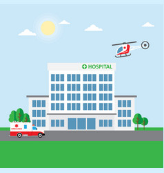 City hospital building or clinic vector