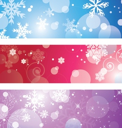 Christmas banner with snowflake vector