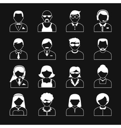 Avatar Characters Icons Set vector image