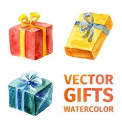 gifts watercolor 2 vector image