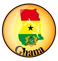 button Ghana vector image
