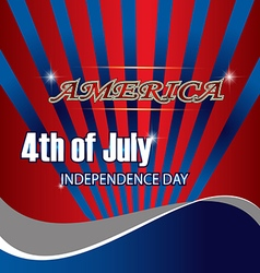 4th background flag america freedom american usa n vector image