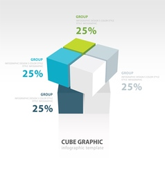 Cube moving infographic template template vector