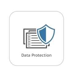 Data protection icon flat design vector