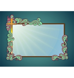 Frame religious text vector