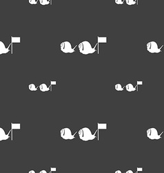Fast snail icon sign seamless pattern on a gray vector