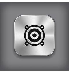 Audio speaker icon - metal app button vector image vector image