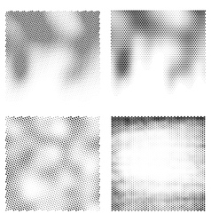 Black and white halftone backgrounds vector image vector image