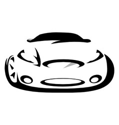 Car silhouette vector image vector image