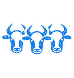 Cattle icon grunge watermark vector