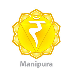 Chakra manipura isolated on white vector