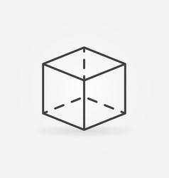 Cube outline icon vector