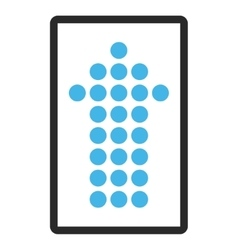 Dotted arrow up framed icon vector