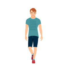 Guy in summer clothes vector