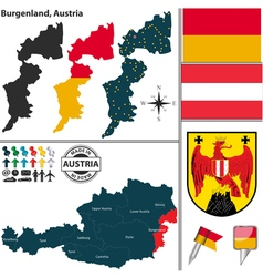 Map of Burgenland vector image
