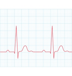 Medical electrocardiogram - ecg vector