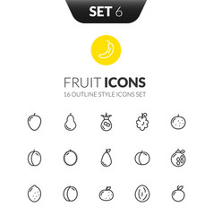 Outline black icons set in thin modern style vector