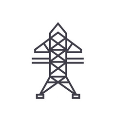 power line line icon sign on vector image