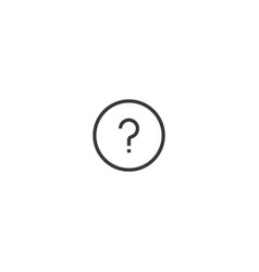 question mark icon line style vector image