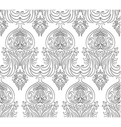Seamless black and white vintage texture vector