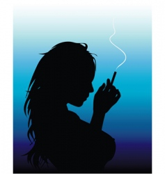 smoking woman vector image