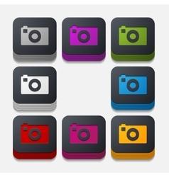 square button photo vector image