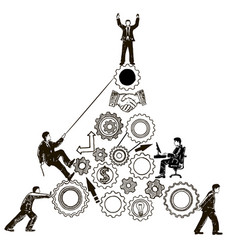 teamwork concept hand drawn vector image