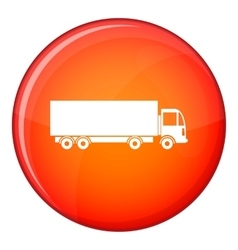 Truck icon flat style vector