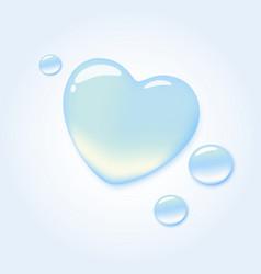 Water heart vector image vector image