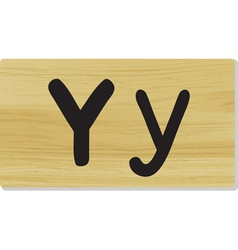 wooden letter Y vector image