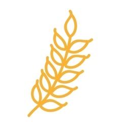 Wreath leafs gluten icon vector