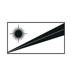 Marshall islands flag monochrome on white vector