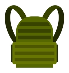 Military backpack icon flat style vector
