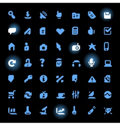 Straight line icons vector