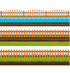 Seamless grounds soils and land vector