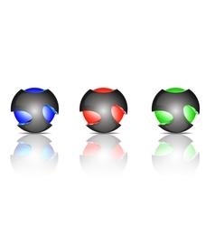 Light ball logo vector image