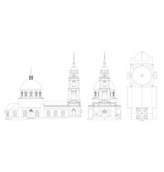 The temple of the russian orthodox church a vector